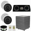 Theater Solutions - 5.1 HOME AUDIO SPEAKERS 4 SPEAKERS 1 CENTER 8 POWERED SUB AND MORE TS50CC5.1SET2