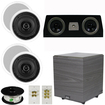 Theater Solutions - 5.1 HOME AUDIO SPEAKERS 4 SPEAKERS 1 CENTER 10 POWERED SUB AND MORE TS50CC5.1SET4