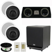 Theater Solutions - 5.1 HOME AUDIO SPEAKERS 4 SPEAKERS 1 CENTER 10 POWERED SUB AND MORE TS50CC5.1SET5