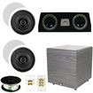 Theater Solutions - 5.1 HOME AUDIO SPEAKERS 4 SPEAKERS 1 CENTER 12 POWERED SUB AND MORE TS50CC5.1SET6