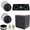 Theater Solutions - 5.1 HOME AUDIO SPEAKERS 4 SPEAKERS 1 CENTER 12 POWERED SUB AND MORE TS50CC5.1SET7