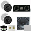 Theater Solutions - 5.1 HOME AUDIO SPEAKERS 4 SPEAKERS 1 CENTER 10 PASSIVE SUB AND MORE TS50CC5.1SET10