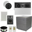 Theater Solutions - 5.1 SURROUND SPEAKERS PACKAGE W CEILING SPEAKERS AND 12 DOWN FIRING SUB TS5C6WL5.1SET6