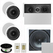 """Theater Solutions - 5.1 Home Theater 6.5"""" Speaker Set, Center, 10"""" Passive Sub More TS65CL51SET10 - white"""