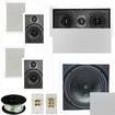 "Theater Solutions - 5.1 Home Theater 6.5"" Speaker Set, Center, 10"" Passive Sub More TS65WL51SET10 - white"