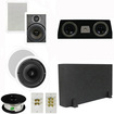 """Theater Solutions - 5.1 Home Theater 8"""" & 6.5"""" Speakers, Center, 8"""" Powered Sub & More TS6W8CC51SET1 - white"""