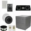 Theater Solutions - Bundle 5.1 Surround Ceiling & Wall Speakers