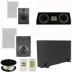 """Theater Solutions - 5.1 Home Theater 8"""" & 6.5"""" Speakers, Center, 8"""" Powered Sub & More TS6W8WC51SET1 - white"""