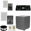 """Theater Solutions - 5.1 Home Theater 8"""" & 6.5"""" Speakers, Center, 8"""" Powered Sub & More TS6W8WC51SET2 - white"""