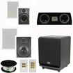 "Theater Solutions - 8"" IN WALL FRONT SPEAKERS 5.1 THEATER SYSTEM W 8 SUB TS6W8WC5.1SET3"