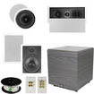 """Theater Solutions - Bundle 5.1 Home Theater 8"""" Ceiling and Wall Speaker Set"""