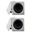 Acoustic Audio - Acoustic Audio LC265i In-Wall/Ceiling Speaker 2 Pair Pack 1000W Home LC265i-2Pr - White
