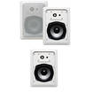Acoustic Audio - Acoustic Audio CS-IW520 In Wall 3 Speaker Set 2 Way Home 600 Watt CS-IW520-3S - White