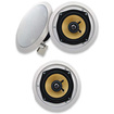 Acoustic Audio - Acoustic Audio HD5 In Ceiling 3 Speaker Set 2 Way Home 750 Watts New HD5-3S - White