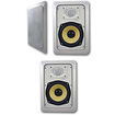 Acoustic Audio - Acoustic Audio HD525 In Wall 3 Speaker Set 2 Way Home 750 Watts New HD525-3S - White