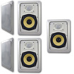 Acoustic Audio - Acoustic Audio HD525 In Wall 5 Speaker Set 2 Way Home 1250 Watts New HD525-5S - White