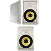 "Acoustic Audio - Acoustic Audio HD650 In Wall 6.5"" Home 3 Speaker Set 2 Way 900 Watts HD650-3S - White"