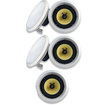"""Acoustic Audio - Acoustic Audio HD8 In Ceiling 8"""" Home 5 Speaker Set 2 Way 1750 Watts New HD8-5S - White"""