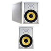 "Acoustic Audio - Acoustic Audio HD800 In Wall 8"" Home 3 Speaker Set 2 Way 1050 Watts New HD800-3S - White"