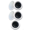 "Acoustic Audio - Acoustic Audio HTI6c In Ceiling 6.5"" Home 5 Speaker Set 2 Way 1250W New HTI6c-5S - White"