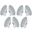 Acoustic Audio - Acoustic Audio R191 In Ceiling 7 Speaker Set 2 Way Home Theater 1400Watt R191-7S - White