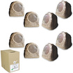 Acoustic Audio - Acoustic Audio RS6SB Brown 2000 Watt Rock Speaker 4 Pair Pack w/ Wire RS6SB-4PRW - Brown