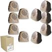 Acoustic Audio - Acoustic Audio RS6SB Brown 2500 Watt Rock Speaker 5 Pair Pack w/ Wire RS6SB-5PRW - Brown