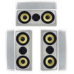 """Acoustic Audio - Acoustic Audio HD-6c In-Wall 6.5"""" Left Center Right 3 Speaker Set 1050W HD-6c-3S - White"""
