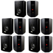 Acoustic Audio - Acoustic Audio 151B Indoor Outdoor 2 Way Speakers 3000W 5 Pair Pack 151B-5Pr - Black