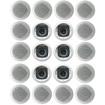 Acoustic Audio - Acoustic Audio CS-IC42 In Ceiling Speaker 10 Pair Pack Home 3000W CS-IC42-10Pr - White