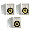 "Acoustic Audio - Acoustic Audio HD650 In Wall 6.5"" Speaker 3 Pair Pack 2 Way 1800 Watts HD650-3Pr - White"