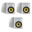 "Acoustic Audio - Acoustic Audio HD800 In Wall 8"" Speaker 3 Pair Pack 2 Way 2100 Watts HD800-3Pr - White"