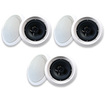 "Acoustic Audio - Acoustic Audio HTI6c In Ceiling 6.5"" Speaker 3 Pair Pack 2 Way 1500W HTI6c-3Pr - White"