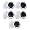 "Acoustic Audio - Acoustic Audio HTI6c In Ceiling 6.5"" Speaker 5 Pair Pack 2 Way 2500W HTI6c-5Pr - White"