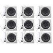 Acoustic Audio - Acoustic Audio LC265i In-Wall/Ceiling Speaker 9 Pair Pack 4500W Home LC265i-9Pr - White