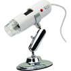 AGPtek - 200X USB Digital Computer Microscope Camera Webcam 1.3 Mega Pixel with Stand - White
