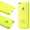 DrHotDeal - New Matte Ultra Thin Snap-on PC Back Case Cover for iPhone 5C - Clear Green - Clear Green