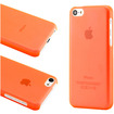 DrHotDeal - New Matte Ultra Thin Snap-on PC Back Case Cover for iPhone 5C - Clear Orange - Clear Orange