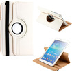 DrHotDeal - 360 Degree Rotating PU Leather Case Cover Swivel Stand for Samsung Galaxy Tab 3 8.0 P8200 Tablet - White