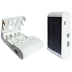 RND Power Solutions - Solar Powered Battery Charger for Rechargeable AA/AAA Ni-MH/Ni-Cd Batteries - White - White