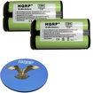 HQRP - 2 Pack Cordless Phone Battery for VTech 80-5017-00-00 / 80-5216-00-00 + Coaster