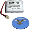 HQRP - Battery for Southwestern Bell FF2100W / FF2125 / FF2125BL Cordless Phone + Coaster