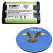 HQRP - Battery for Panasonic KX-TG3033 / KX-TG3033NZ 2.4 GHz Cordless Phone + Coaster