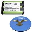 HQRP - Battery for Panasonic KX-TGA300 / KX-TGA300B 2.4 GHz Cordless Phone + Coaster