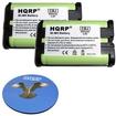 HQRP - 2 Pack Battery for Panasonic KX-TG20 / KX-TG20CN Handset Cordless Phone + Coaster