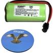 HQRP - Battery for Uniden DECT2080-3 / DECT2080-4 / DECT2080-5 Cordless Phone + Coaster