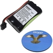 HQRP - Battery for Panasonic PQHHR150AA21 / Type 17 Cordless Phone Replacement + Coaster