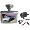 Pyle - 3.5'' Slim TFT LCD Window Suction Mount Monitor with Dual Mount Rearview Camera w/ Night Vision
