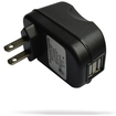 RND Power Solutions - 2 Port USB (2.4A) Wall charger for iPads, iPhones, Tablets, Smartphones. - Black