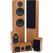 Fluance - SXHTB High Definition Surround Sound Home Theater 5.0 Channel Speaker System - Beech